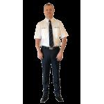 Herreskjorte hvit -kort arm