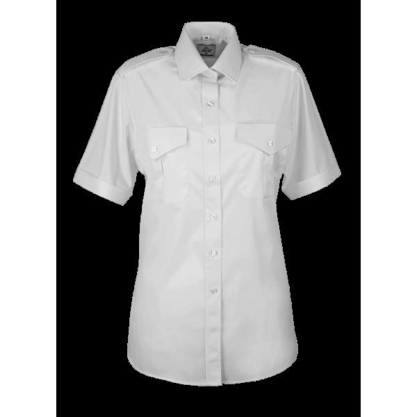 Damekjorte hvit -kort arm